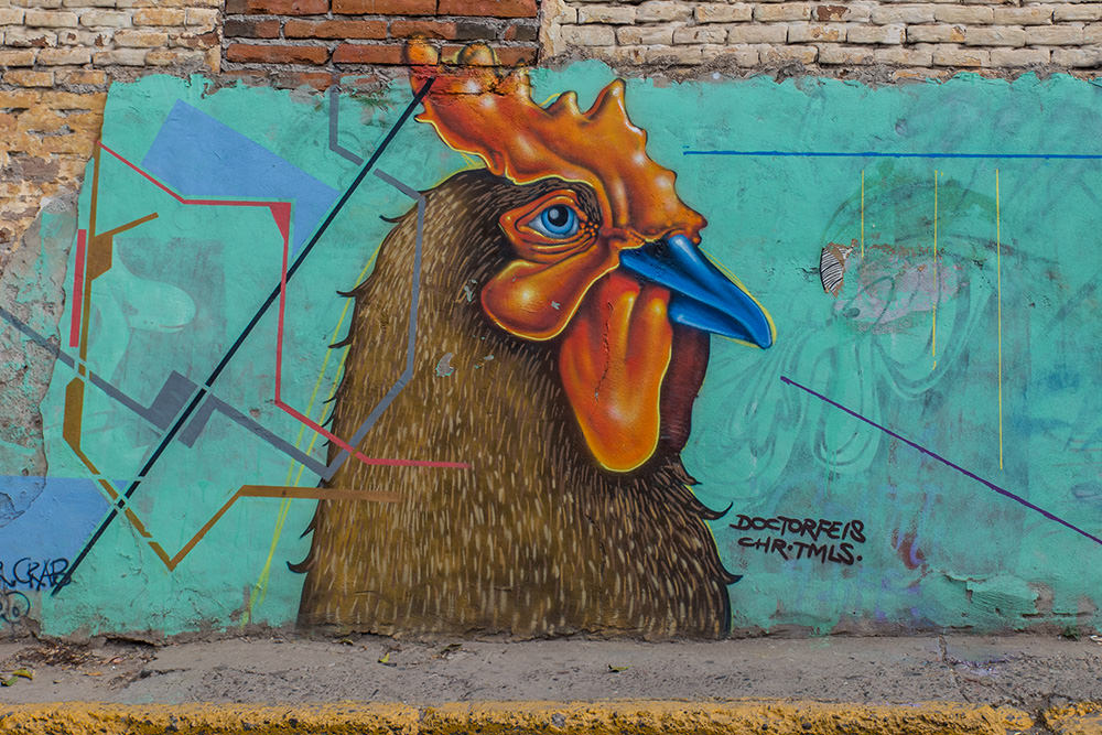 Street art in Culiacán, Sinaloa, Mexico.