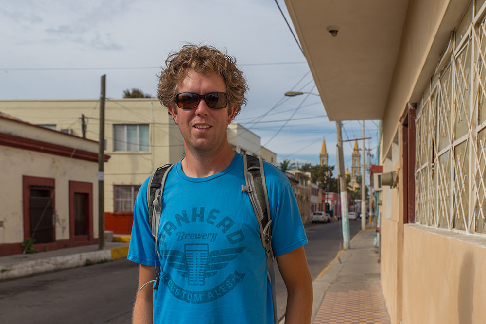Ben wandering aimlessly about Mazatlán.