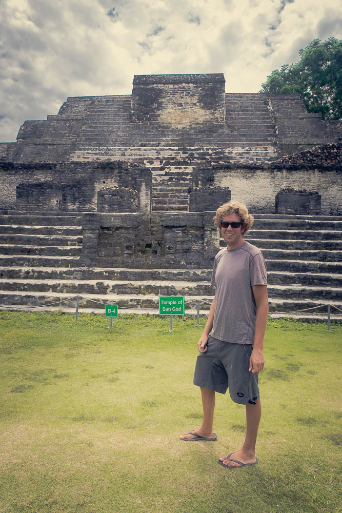 While it is nice and all to see the famous Altun Ha ruin, deep down Ben would prefer drinking a cold Belikin.