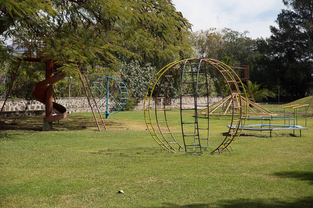 The rest of the playground looked like a serious childhood accident waiting to happen.