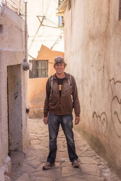 The narrow alleyways of Guanajuato.