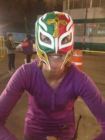 Clearly not a Lucha Libre pro.