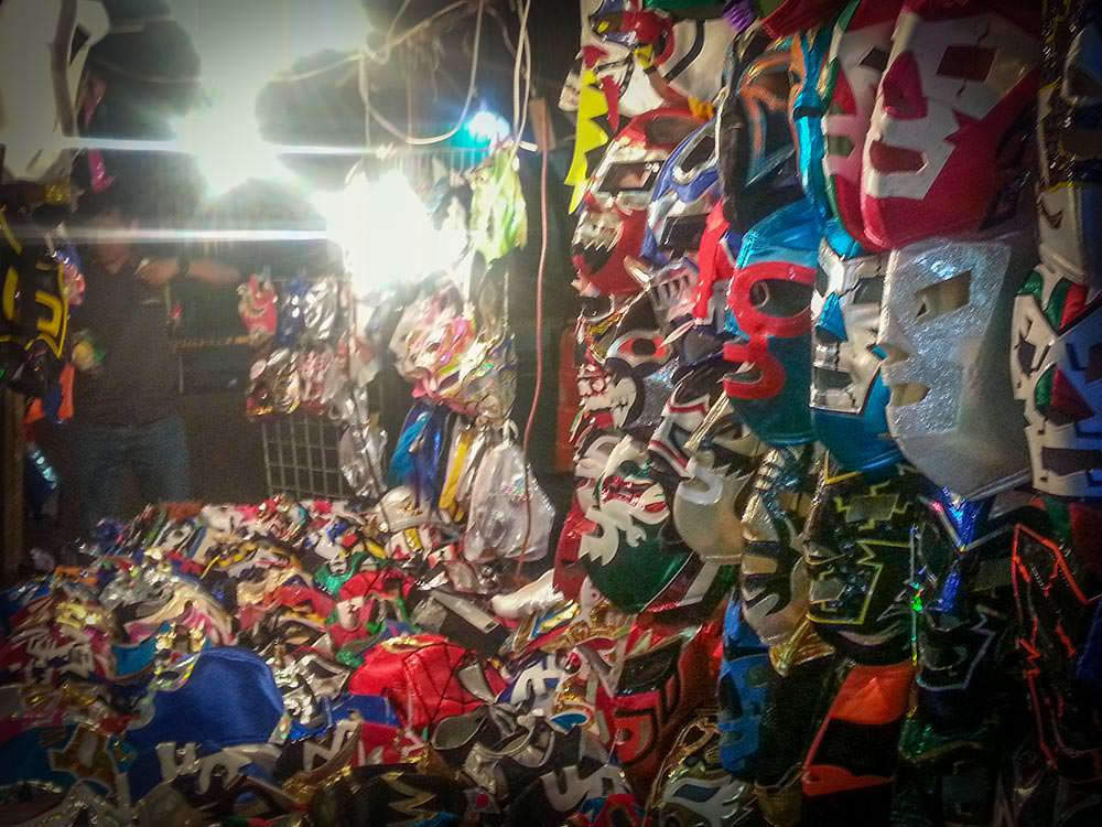 Wrestling masks for sale.