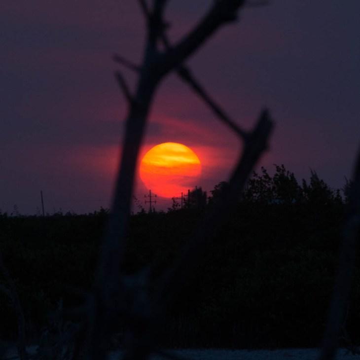 A spectacular sunset.