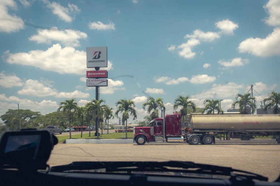 Even the view from the gas station had us wondering if we had left Belize…