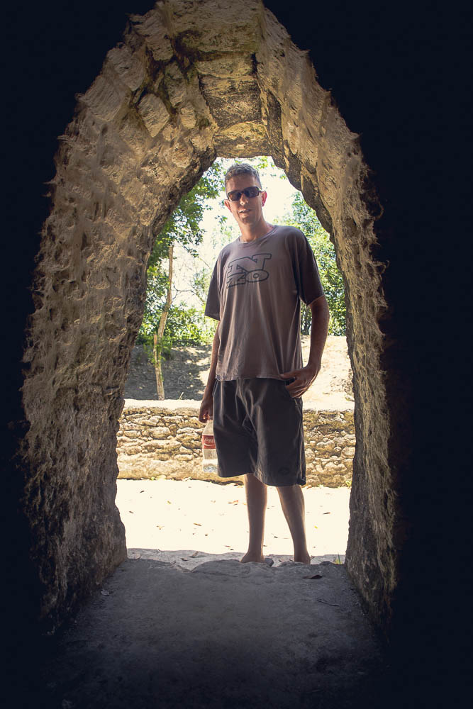 The doorways were even just big enough for Ben.