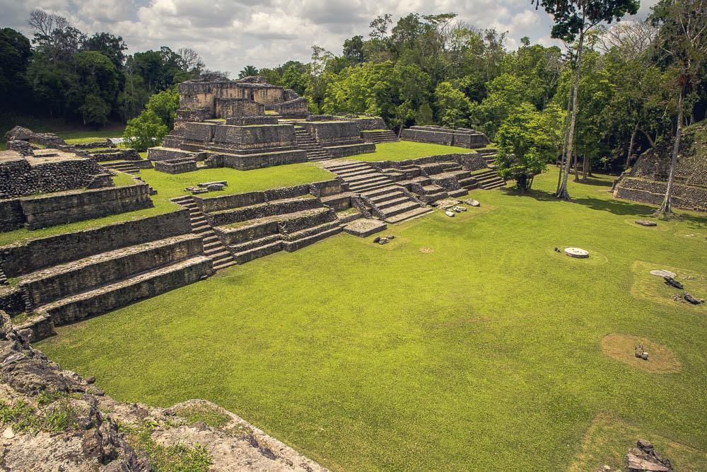 More expansive ruins, surrounding broad plazas.