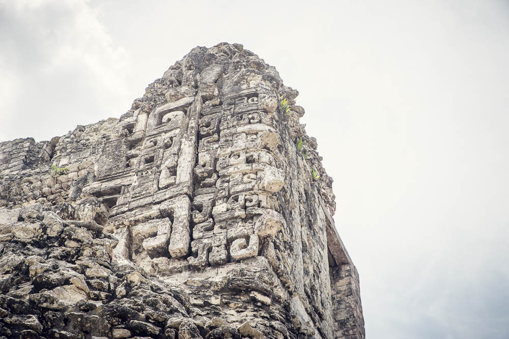 Detailed carvings preserved at Chicanná.