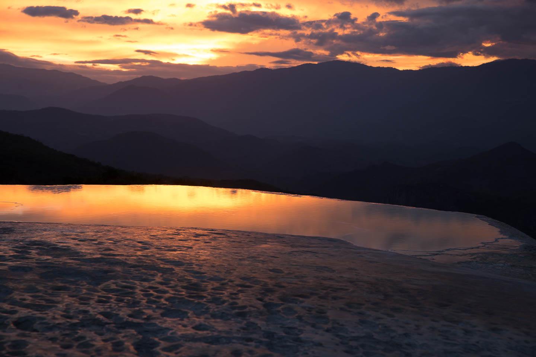 Hierve el Agua at dawn