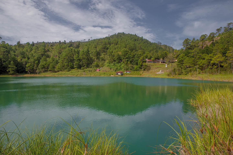 Lago Internacional—half in Mexico, half in Guatemala.