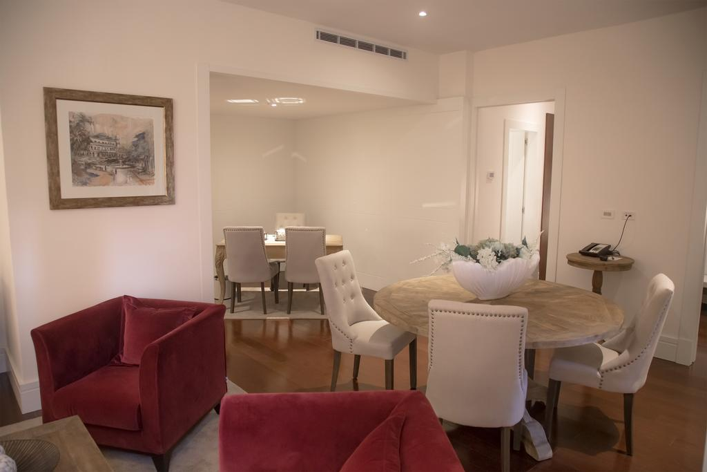 Suites are luxurious with separate living and dining areas