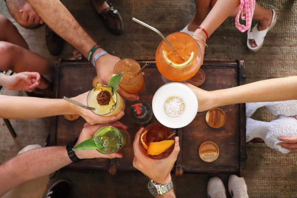 Cocktails are quite tropical using ingredients like pineapple, lemon, orange, mint, etc.