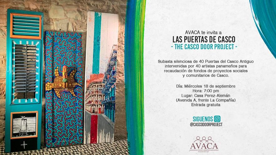 Invitación a la subasta silenciosa de The Casco Door Project 2019