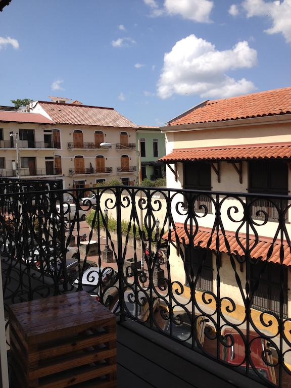view from the balcony at Gatto Blanco Party Hotel