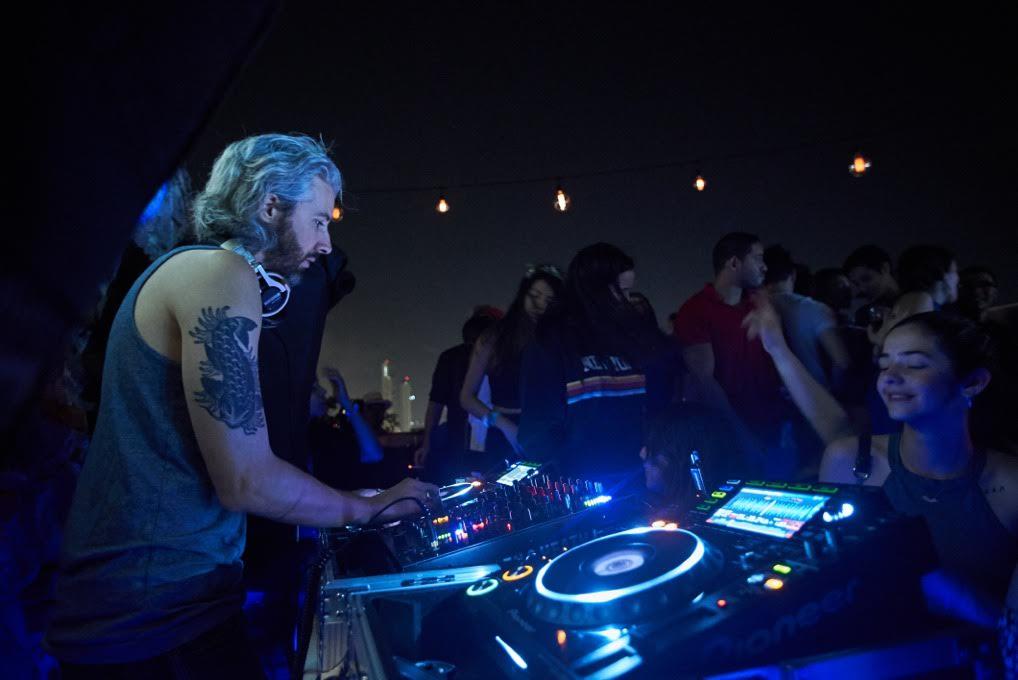 DJ slimflo at Gatto Blanco Rooftop Bar in Casco Viejo Panama