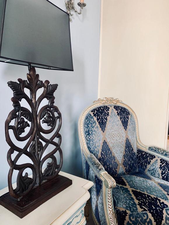 Chair and lamp at Villa Palma Boutique Hotel