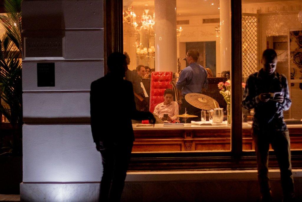 Vista de la calle dentro de Villa Palma Boutique Hotel