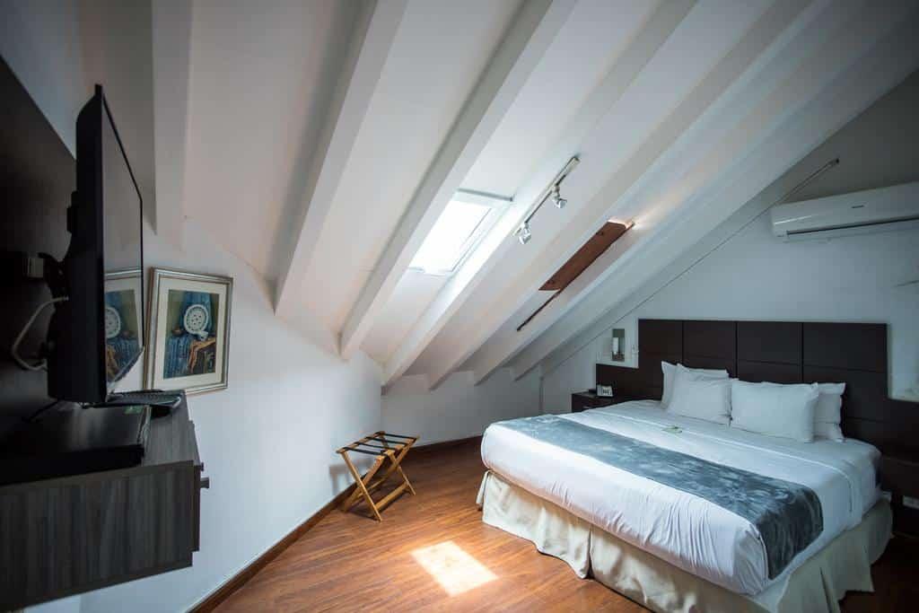 Rooms are smaller and located in the attic off Casa Antigua Hotel