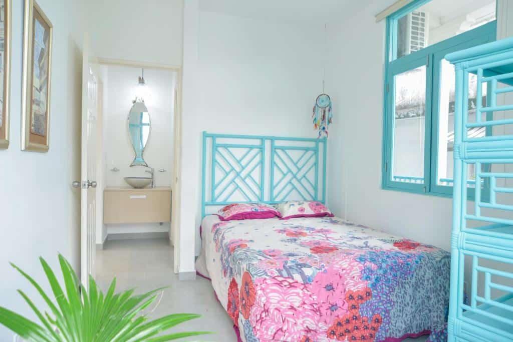 dormitorio del apartamento 2A en Flor de Lirio Casco Viejo