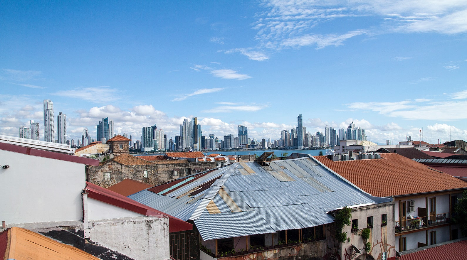 Penthouse rooms at Magnolia Inn have views of the skyline of Panama City