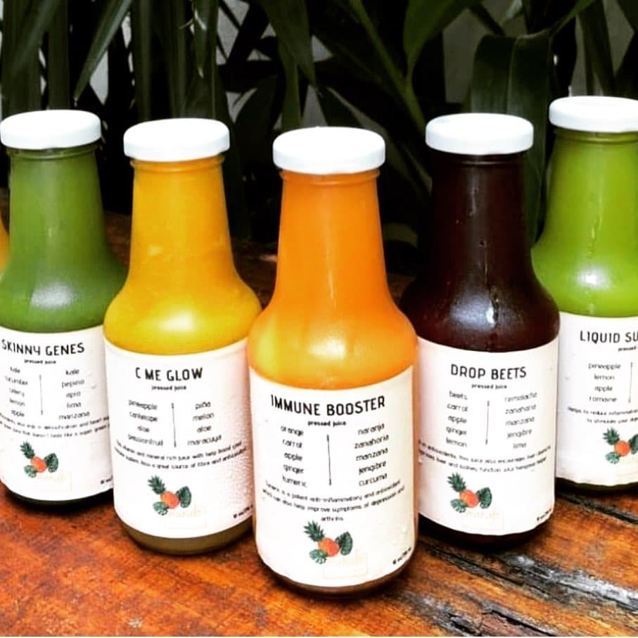 Pressed juice are done fresh and daily at Mahalo Casco Viejo