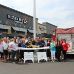 Chamber Ambassadors gather with the Mission BBQ staff to celebrate their grand opening.