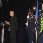 Rev. Henry Hazard leads 2018 Annual Dinner and Awards Ceremony with invocation.