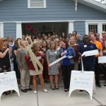 Chamber ambassadors gather to celebrate the grand opening of the Healthy Start Coalition.