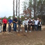 Chamber Ambassadors gather to to celebrate the ground breaking of BBIA with Anderson Construction Company.