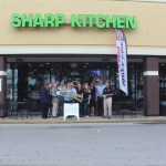 Chamber Ambassadors gather to celebrate the grand opening of Sharp Kitchen.