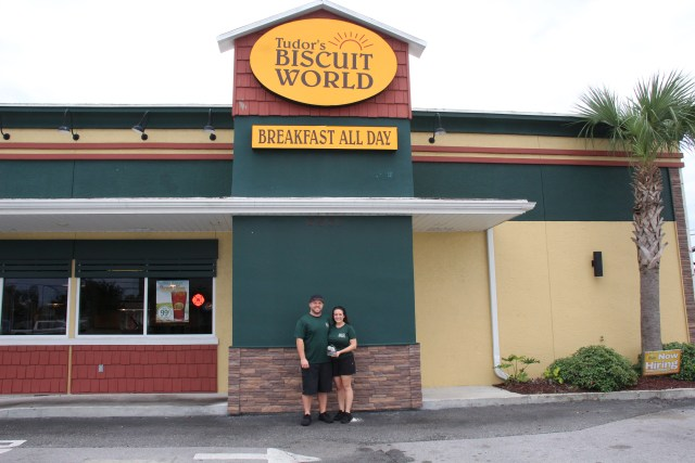 Tudor's Biscuit World accepts IAC Small Business of the Year Award