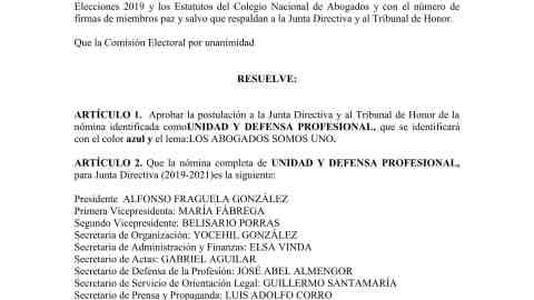 Resolución No. 008