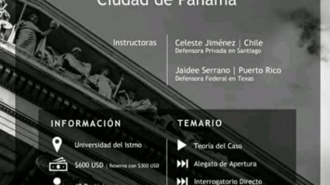 Invitacion- Taller Internacional de Destrezas en Litigación Oral