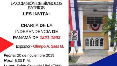 INVITACIÓN- Charla de la Independencia de Panamá de 1821-1903
