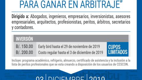 INVITACIÓN- Seminario Herramientas y Estrategias Para Ganar en Arbitraje