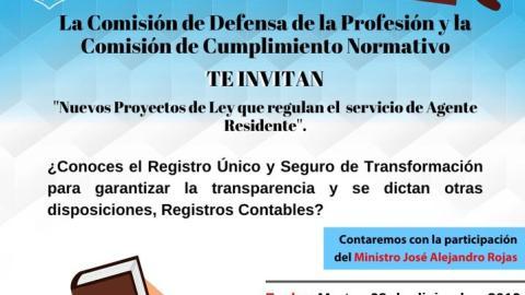 INVITACIÓN- conversatorio Nuevos Proyectos de ley que Regulan el Servicio de Agente Residente