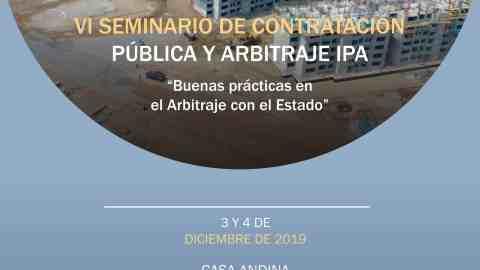INVITACIÓN- VI SEMINARIO DE CONTRATACIÓN PÚBLICA Y ARBITRAJE IPA