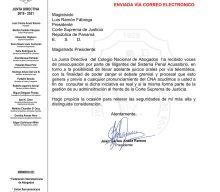 CONSULTA AL MAGISTRADO PRESIDENTE DE LA CORTE SUPREMA DE JUSTICIA