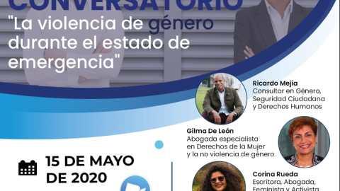 """CONVERSATORIO: """"LA VIOLENCIA DE GÉNERO DURANTE EL ESTADO DE EMERGENCIA"""""""
