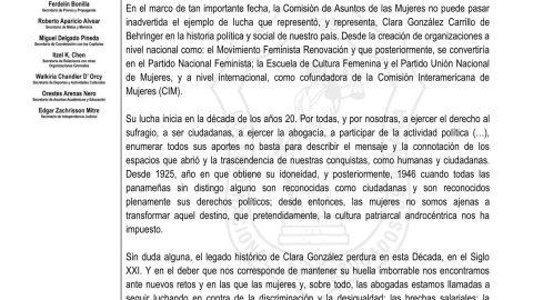 Alocución al Natalicio de Clara González