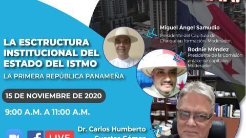 LA ESTRUCTURA INSTITUCIONAL DEL ESTADO DEL ISTMO LA PRIMERA REPÚBLICA PANAMEÑA