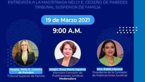 Mujeres con Valores Entrevista a la Magistrada Nelly E. Cedeño de Paredes Tribunal Superior de Familia