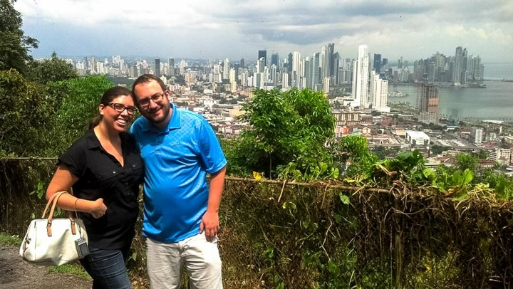 The view on Panama City from Ancon Hill