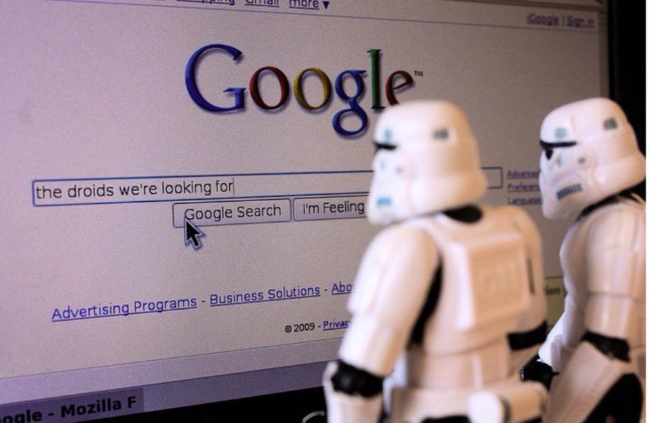 Hoy puedes escoger entre #DarkSide o #JediSide en #Google