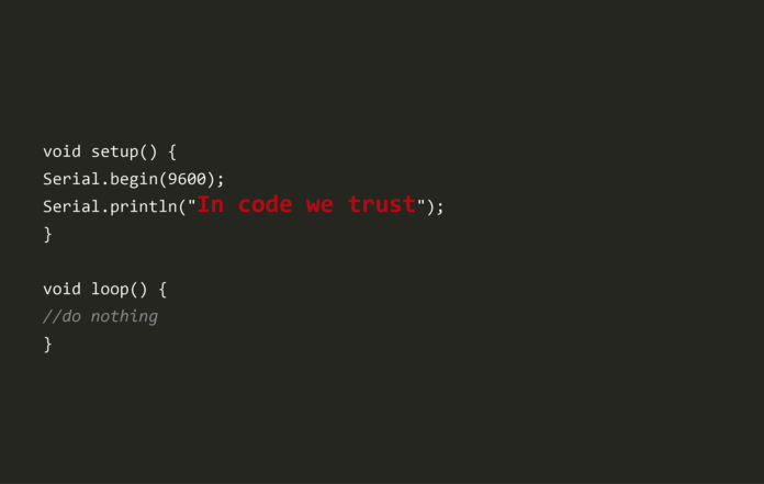 in code we trust - Electrogeek