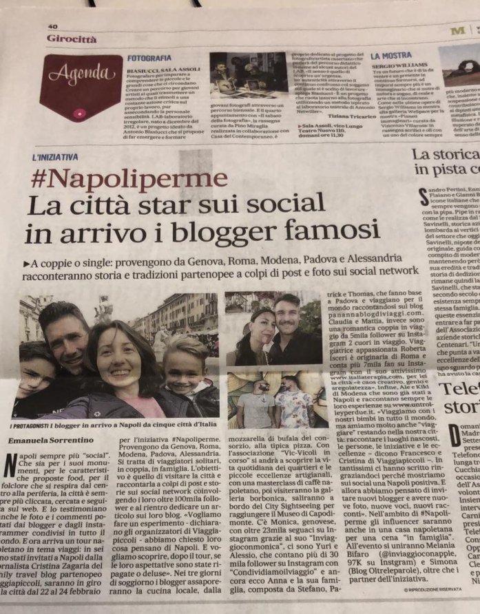 rassegna stampa blog tour #napoliperme