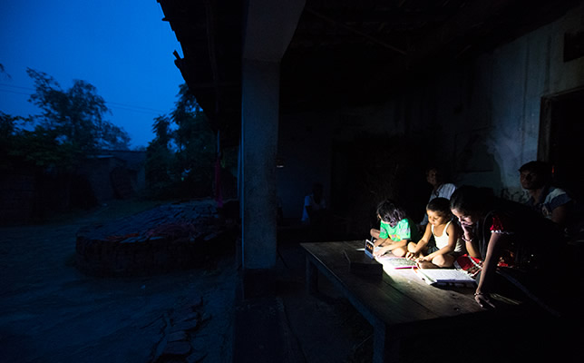 Lighting Up A Night Time Medical Visit In Bihar India