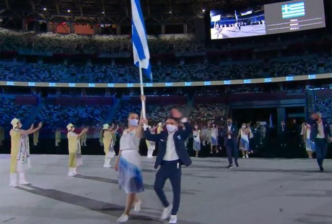 Ολυμπιακοί αγώνες-Τελετή έναρξης: Η εντυπωσιακή είσοδος της Ελλάδας στο Εθνικό στάδιο του Τόκιο (vid) | panathinaikos24.gr