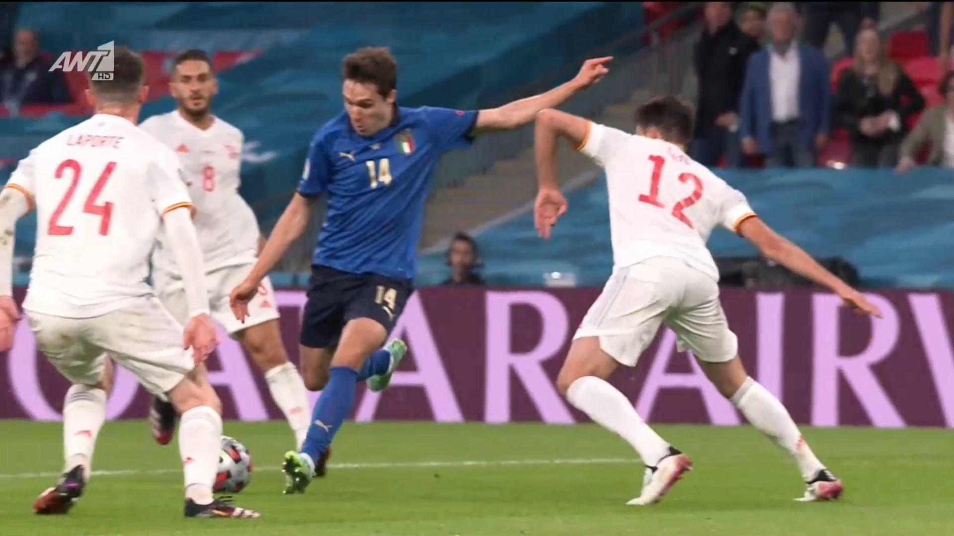 Ιταλία – Ισπανία: Κιέζα και 1-0 (vid)   panathinaikos24.gr