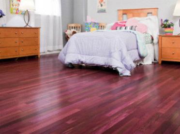 Purpleheart wood floor